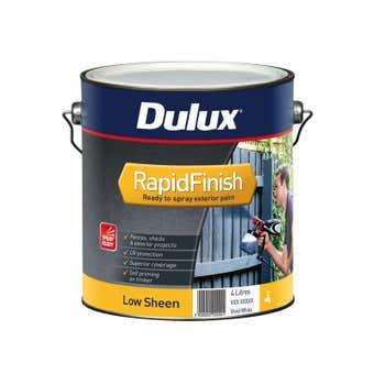 Dulux Rapid Finish 4L Low sheen Vivid White