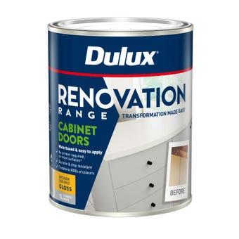 Dulux Renovation Range Cabinet Doors Gloss White 1L