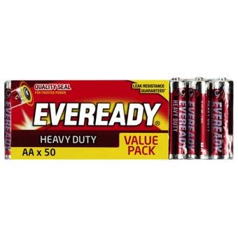 Eveready Heavy Duty Battery AA - 50 Pack