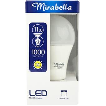 Mirabella LED Globe GLS BC 11w Warm White