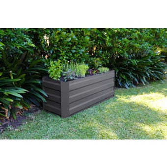 Greenlife Slimline Garden Bed Charcoal