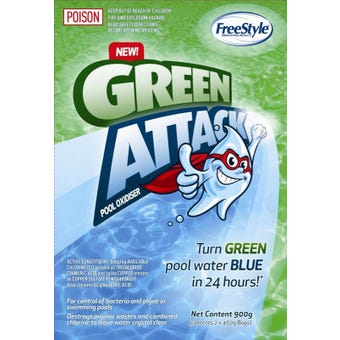 Freestyle Green Attack Pool Oxidiser