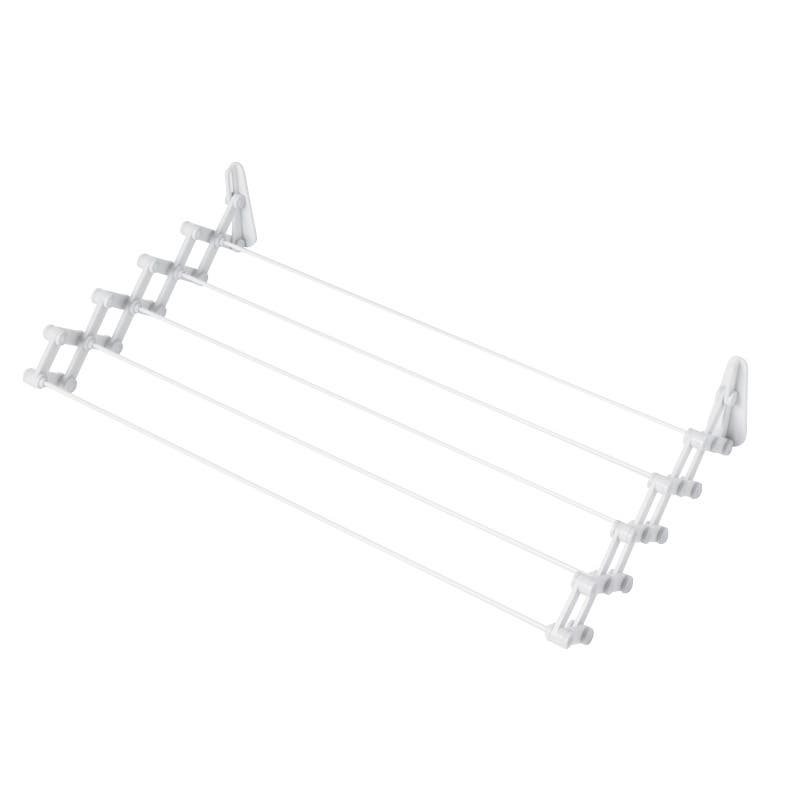 Clothes Airer Wall Extendable 74Cm White