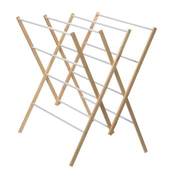 Clothes Airer Wood 12 Rail