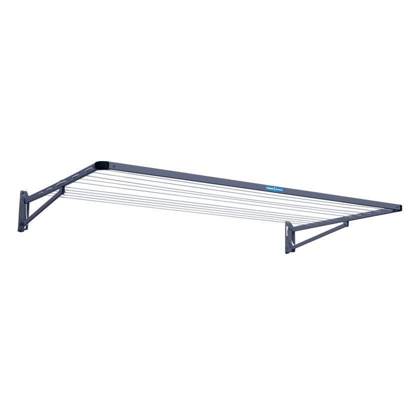 Clothesline Folding Frame Single Iron Grey