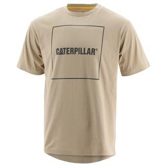 CAT Logo Drop Tail T-Shirt Oxford