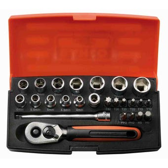 "Bahco 1/4"" Mini Socket Set"