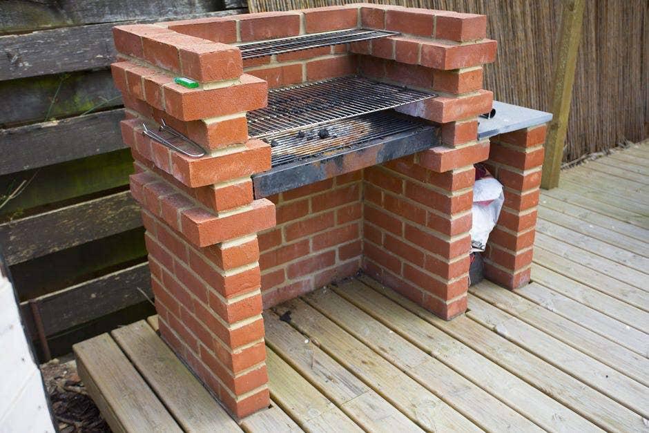 A DIY brick BBQ