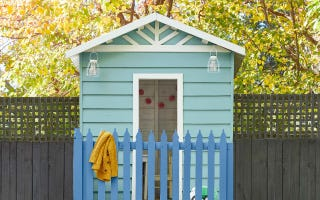 Outdoor Cubby painted with Accent