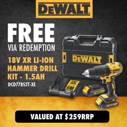Free via redemption 18V XR Hammer Drill Kit