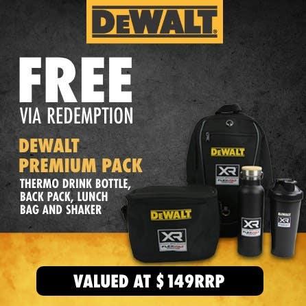 Free via redemption DeWalt Premium Pack