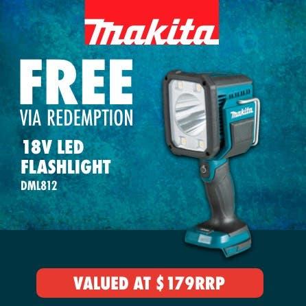 Free via redemption Makita LXT 18V LED flashlight