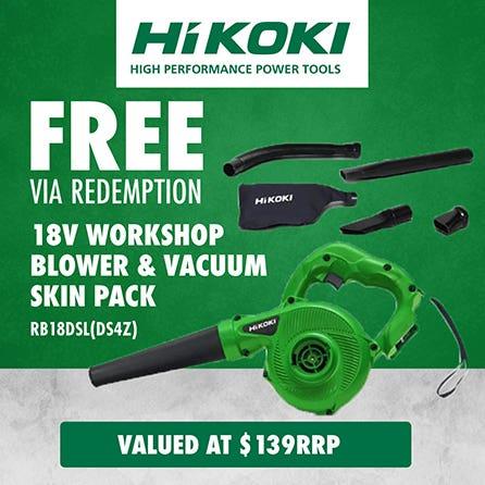 Free via redemption Hikoki  18V Workshop Blower & Vacuum Skin Pack