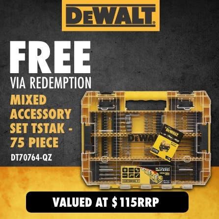 Free via redemption DeWalt Accessory Kit - 75 piece