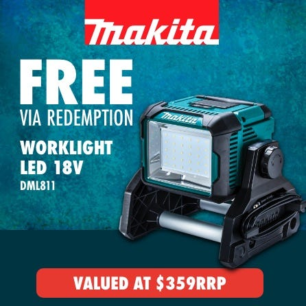 Free Makita 18V LED work light