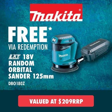 Free via redemption Makita LXT 18V Random Orbital Sander 125mm