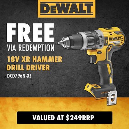Free via redemption DeWalt 18V XR Hammer Drill Driver