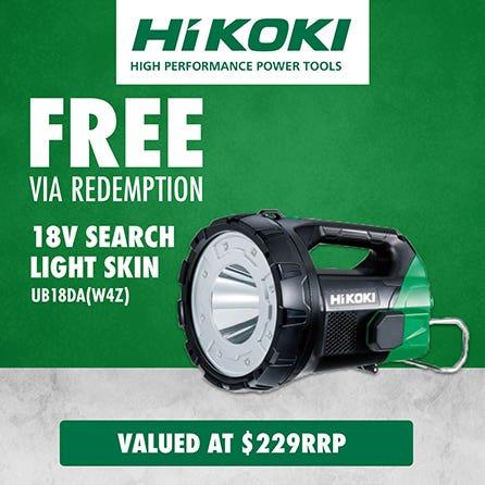 Free via redemption Hikoki 18V Search Light Skin