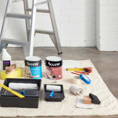 Accent Products on a floor